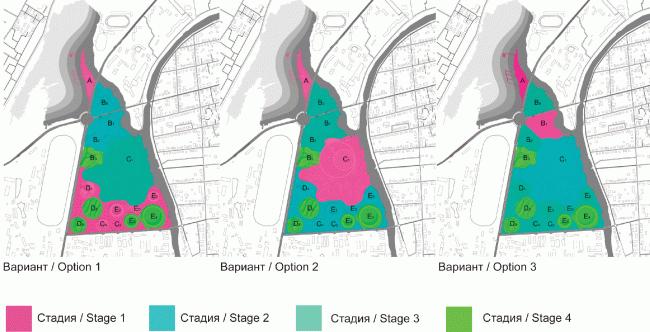 Возможности разделения строительства на очереди: гибкие возможности реализации. Проект комплекса «Земля Олонхо» в Якутии © АБ «Атриум»