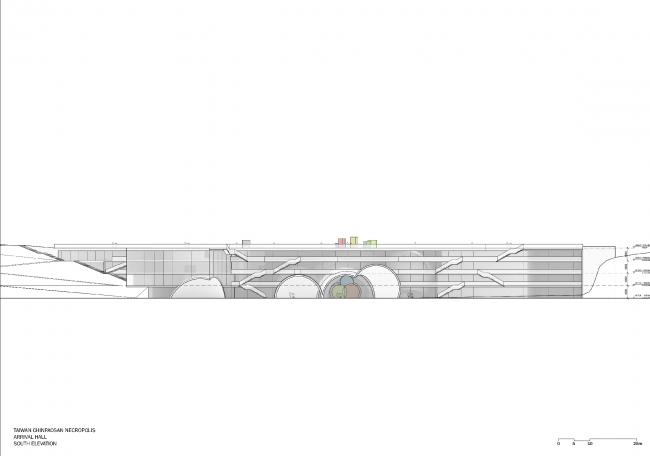 Некрополь Дзиньбаошань – корпус вестибюля. Предоставлено Steven Holl Architects