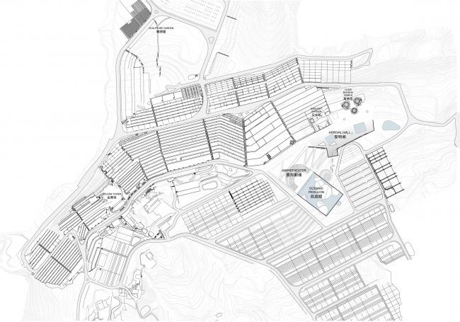 Некрополь Дзиньбаошань – корпус вестибюля и Океанский павильон. Предоставлено Steven Holl Architects
