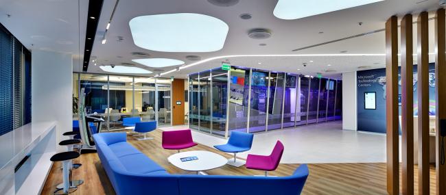 Московский технологический центр Microsoft. Зона ожидания © UNK project