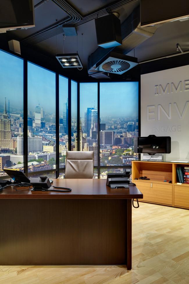 Московский технологический центр Microsoft. модель кабинета руководителя © UNK project