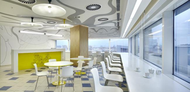 Офис российского представительства компании The Walt Disney Company CIS. Кафе © UNK project