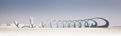 Проект Рона Арада - финалист. Вид моста во время Олимпийских Игр