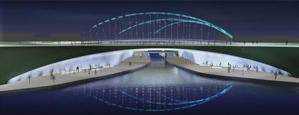 Проект Softroom - финалист. Вид моста во время Олимпийских Игр