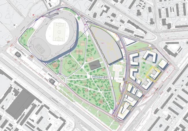 Генеральный план ВТБ Арена Парк © SPEECH