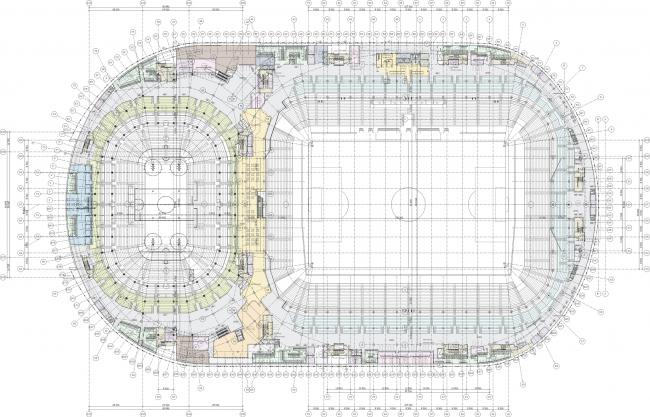 Проект реконструкции стадиона «Динамо» © David Manica, Manica Architecture