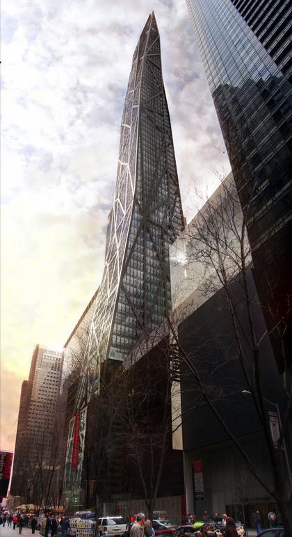 Башня Tour de Verre в Нью-Йорке. Проект (2007)