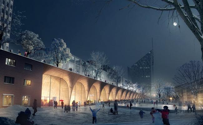 Транспортный и сервисный центр в Тампере © COBE & Lundén Architecture