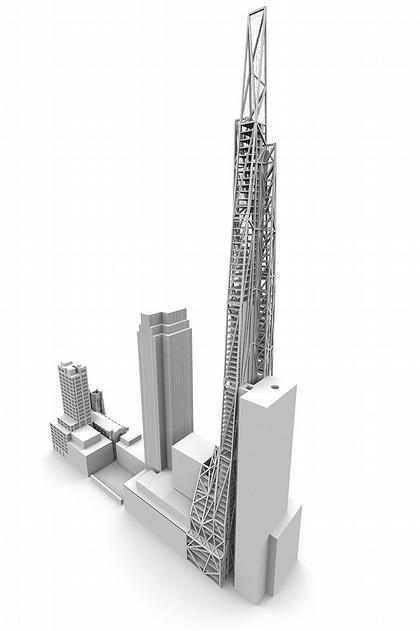 Башня Tour de Verre. Схема расположения окружающих построек