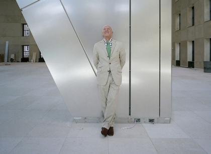 """Норман Фостер в построенном им небоскребе концерна """"Hurst"""" в Нью-Йорке"""