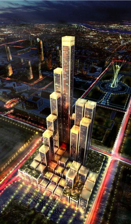 Абу-Даби Плаза – многофункциональный комплекс. Проект, 2007. Реализация, 2016