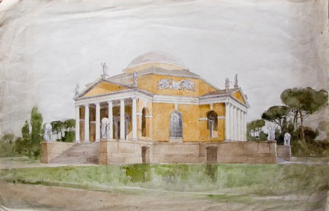 М.М.Перетяткович. Проект павильона на международной выставке в Риме 1911 г. Изображение предоставлено музейно-выставочным центром РОСИЗО