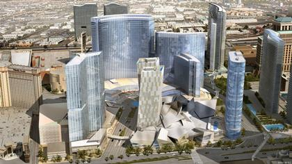 Общий вид комплекса CityCentre. Лас-Вегас, США. Проект