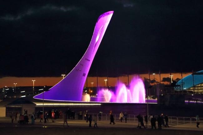 Sochi Olympik fire. Фото предоставлено компании Kalzip.