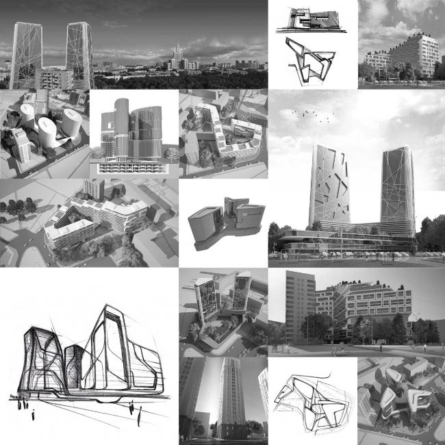 Жилой комплекс на Песчаной улице. Варианты проекта © Четвертое Измерение