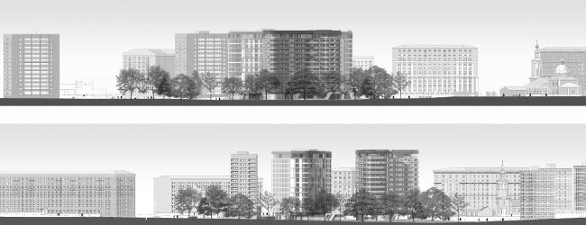 Жилой комплекс на Песчаной улице. Развертки © Четвертое Измерение
