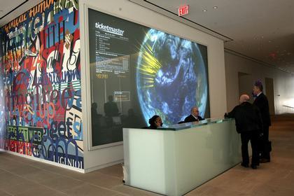 Штаб-квартира компании InterActiveCorp в Нью-Йорке. Вестибюль