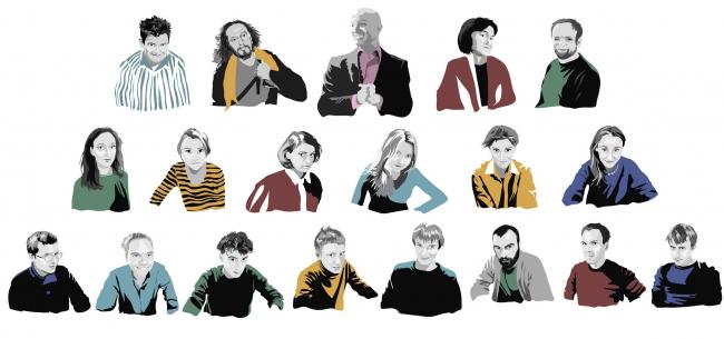 Портреты участников и «руководства» воркшопа. Автор © Ольга Зинюкова