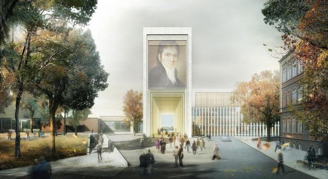 Проект gmp. Изображение с сайта beethoven-festspielhaus.de