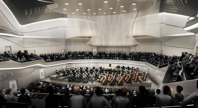 Проект Захи Хадид. Изображение с сайта beethoven-festspielhaus.de