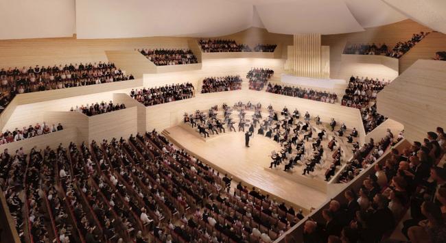 Проект Арата Исодзаки. Изображение с сайта beethoven-festspielhaus.de