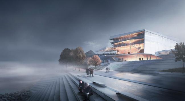Проект Snøhetta. Изображение с сайта beethoven-festspielhaus.de