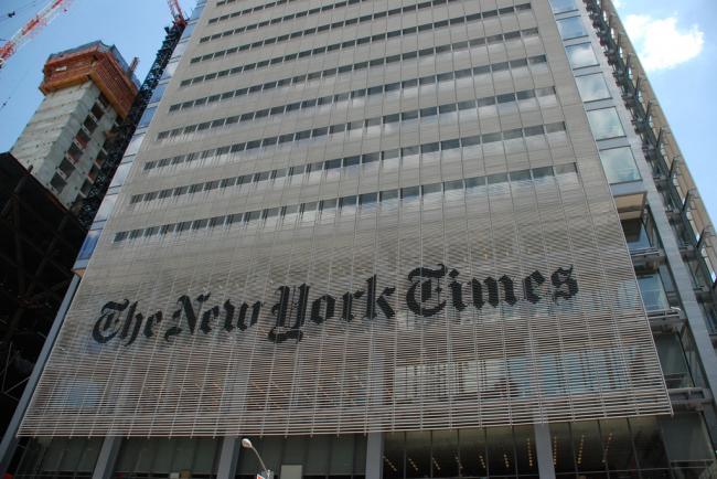 Башня «Нью-Йорк Таймс». Нью-Йорк, США. Фото: Peter Dutton via Wikimedia Commons. Лицензия CC BY 2.0