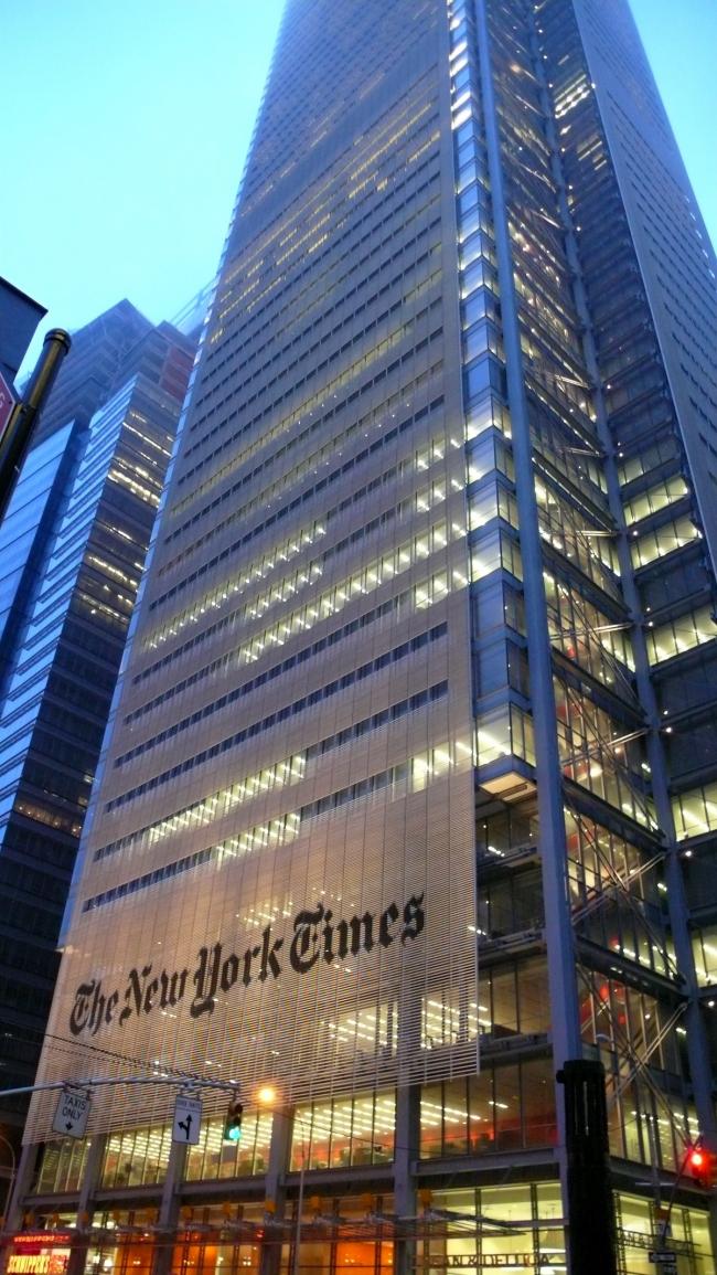 Башня «Нью-Йорк Таймс». Нью-Йорк, США. Фото: Cebete via Wikimedia Commons. Лицензия CC-BY-2.0