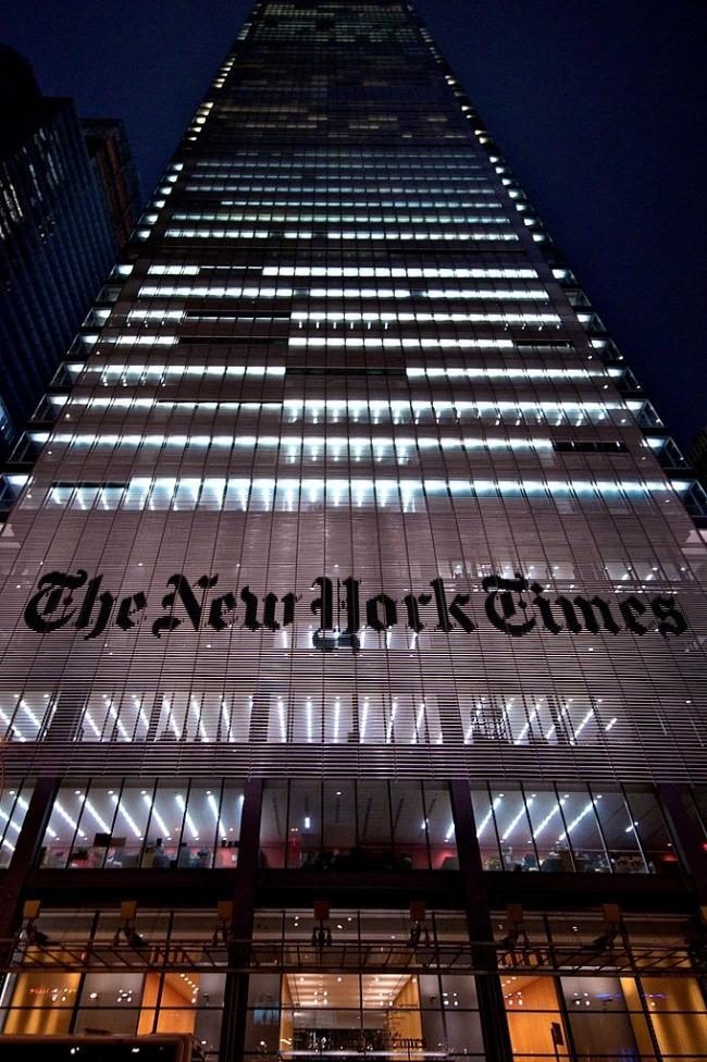 Ренцо Пьяно. Башня «Нью-Йорк Таймс». Нью-Йорк, США. Фото: paalia via Wikimedia Commons. Лицензия CC-BY-2.0