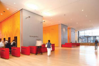 Ренцо Пьяно. Башня «Нью-Йорк Таймс». Нью-Йорк, США. Вестибюль