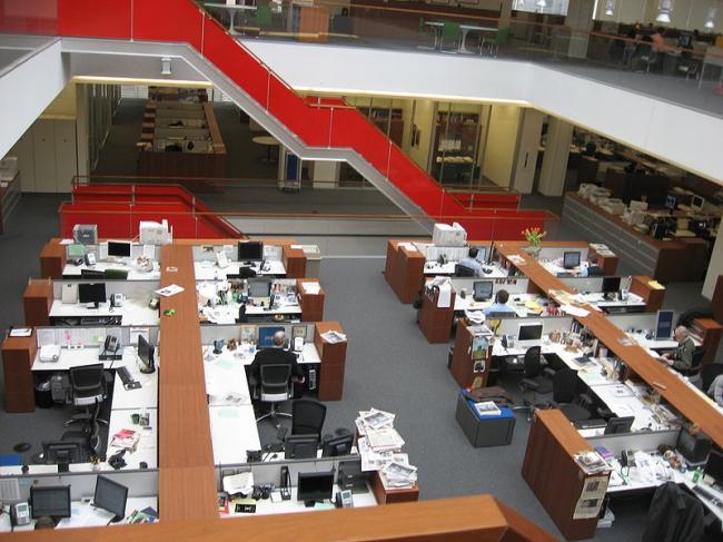 Башня «Нью-Йорк Таймс». Нью-Йорк, США. Отдел новостей. Фото: Bpaulh via Wikimedia Commons. Фото находится в общественном доступе