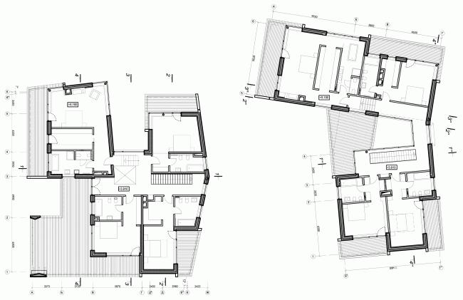 Две виллы. План второго этажа © ДНК аг