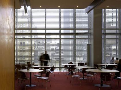 Ренцо Пьяно. Башня «Нью-Йорк Таймс». Нью-Йорк, США. Кафетерий на 14-м этаже