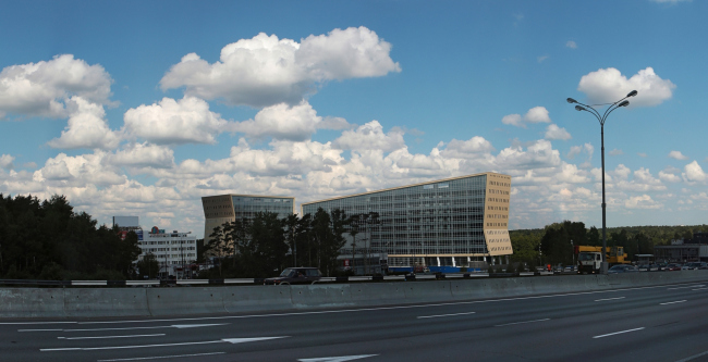 Administrative and business center at the Rublev Shosse, 2014 Sergey Kiselev and Partners. Photo © Aleksey Kholopov