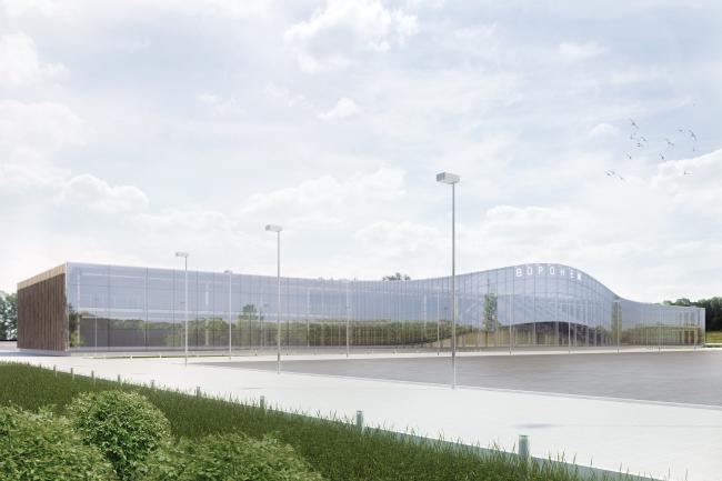 Концепция реконструкции аэропорта в Воронеже © Архитектурная мастерская Arch group