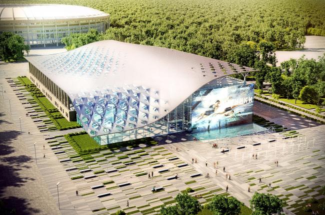 Проект реконструкции бассейна Лужники © Архитектурная мастерская Arch group