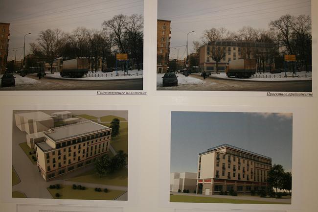 Проект гостиницы на улице 1812 года, вл.6. ООО «Арх идея», арх. А.В. Луценко.