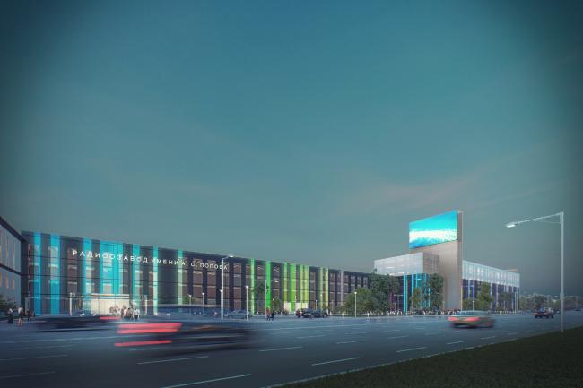 Проект реконструкции радиозавода имени А.С. Попова в Омске © Архитектурная мастерская Arch group