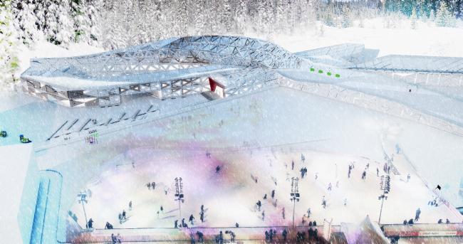 «Интернат для детей-сирот». Школа-интернат в Москве, Метрогородок, Открытое шоссе. Автор: Анна Тузова, студент 6 группы 4 курса кафедры «ПРОМ»