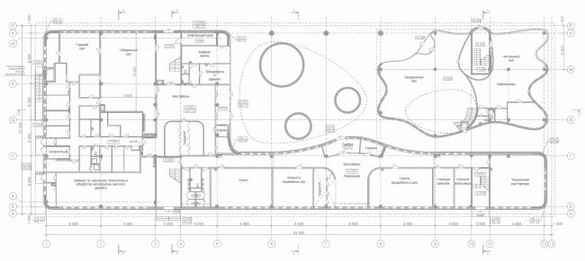 Школа в Мамонтовке. План 1 этажа © ADM