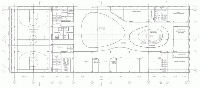 Школа в Мамонтовке. План 2 этажа © ADM