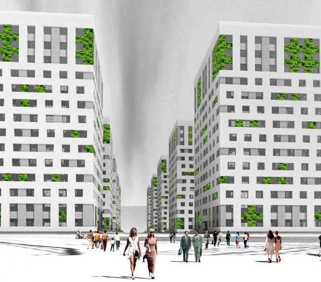 Конкурсный проект фасадов башен жилого комплекса на проспекте Медиков