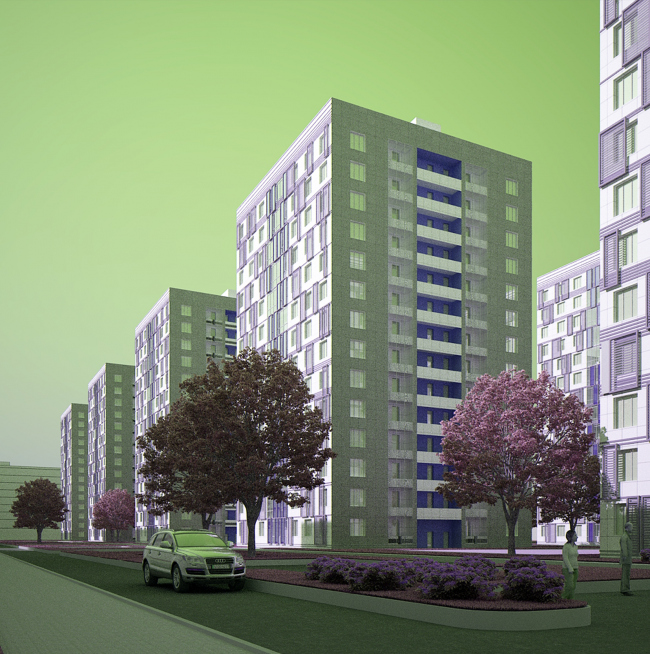 Многоквартирный жилой комплекс «Европа Сити» на проспекте Медиков. Конкурсный проект фасадов башен