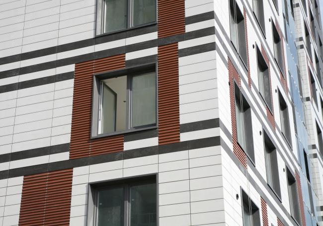 Башня многоквартирного жилого комплекса на проспекте Медиков по проекту Ильи Филимонова и Ирины Филимоновой. Фотография предоставлена SPEECH