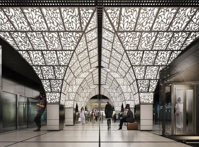 Дизайн станции метро «Новопеределкино», 2014, 1 этап конкурса