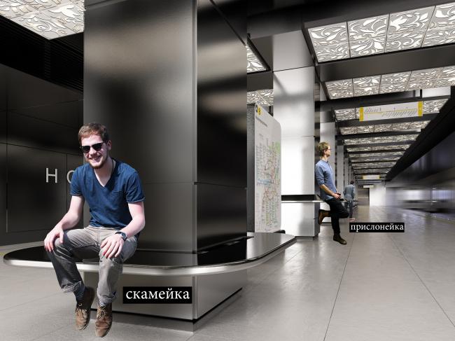 Дизайн станции метро «Новопеределкино» © United Riga Architects