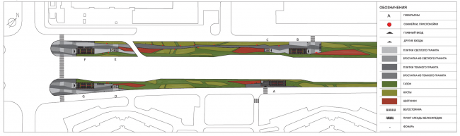 Генеральный план. Дизайн станции метро «Новопеределкино» © United Riga Architects