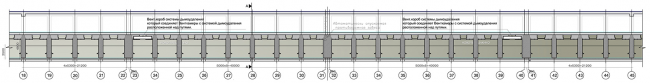 Платформа. Разрез 1-1. Дизайн станции метро «Новопеределкино» © United Riga Architects