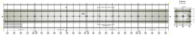 План пола платформенной части. Дизайн станции метро «Новопеределкино» © United Riga Architects