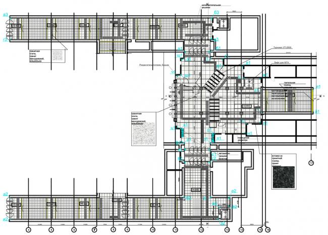 Кассовый зал №1. План пола. Дизайн станции метро «Новопеределкино» © United Riga Architects